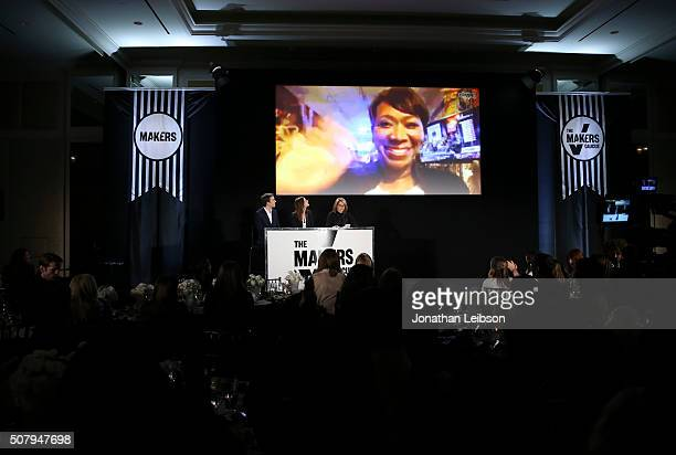 Political consultant Brian Goldsmith political commentator Alicia Menendez and Journalist author and cofounder of Stand Up to Cancer Katie Couric...