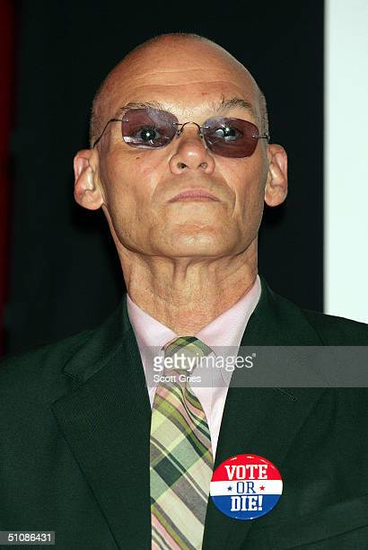 Political consultant James Carville on stage during a press conference to announce plans for the Citizen Change Campaign at NYU's Kimmel Auditorium...