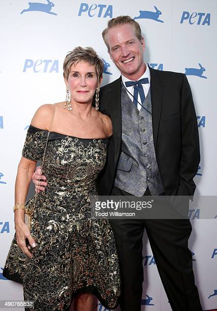 Political consultant Mary Matalin and PETA Senior Vice President Dan Mathews attend PETA's 35th Anniversary Party at Hollywood Palladium on September...