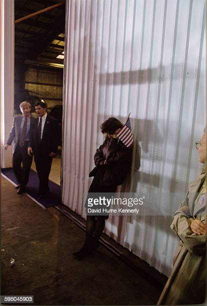 Political consultant Mary Matalin at a Bush/Quayle campaign rally on November 2 1992 in Louisville Kentucky President George HW Bush is running for...