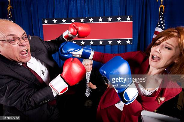 Political Debate Boxing Match