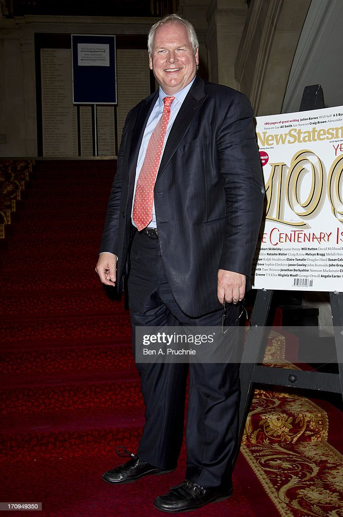 Political Editor of Sky News, Adam Boulton attends The New Statesman Centenary Party at Great Hall on June 20, 2013 in London, England.