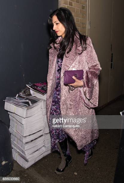 Political figure Huma Abedin is seen arriving to the Prabal Gurung collection during February 2017 New York Fashion Week at Gallery 1 Skylight...