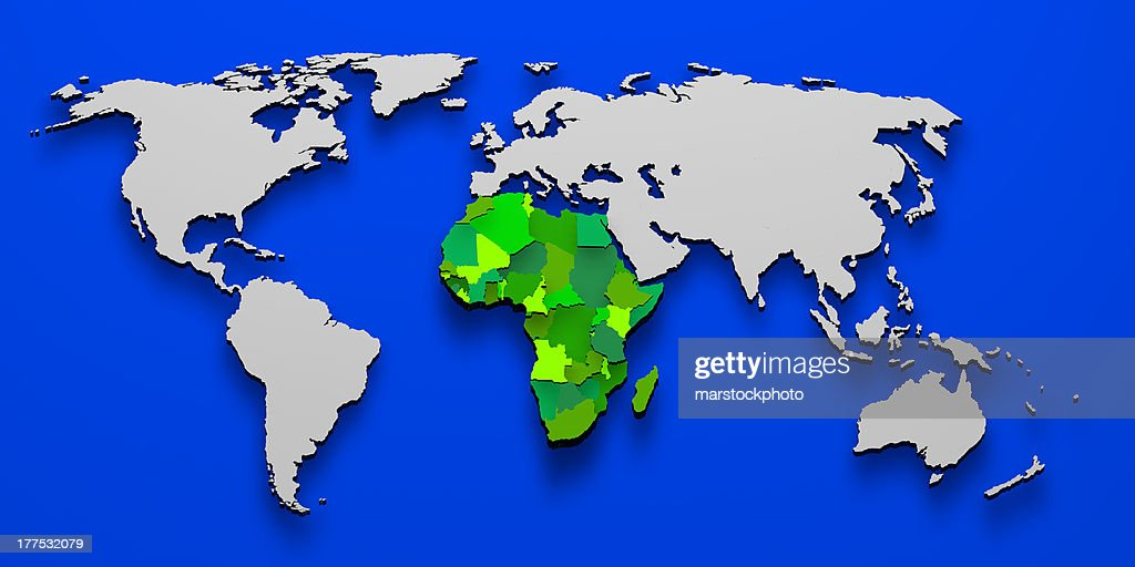 Map Of Africa 3d.Political Map Of Africa 3d Stock Photo Getty Images