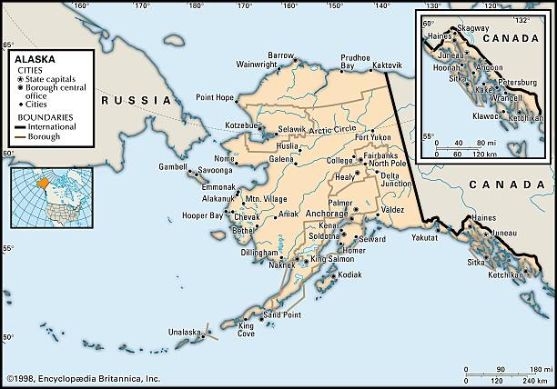 Political Map Of Alaska Pictures Getty Images - Political map of alaska