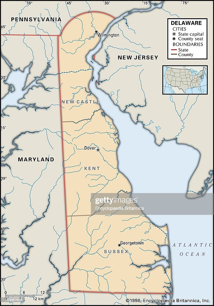 Political Map Of Delaware, Political Map Of The State Of