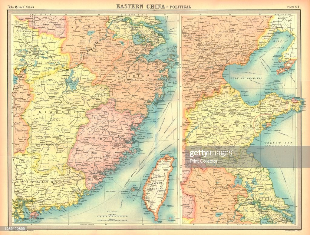 Political map of eastern china artist unknown pictures getty images political map of eastern china showing taiwan tianjin and the bohai sea plate gumiabroncs Image collections