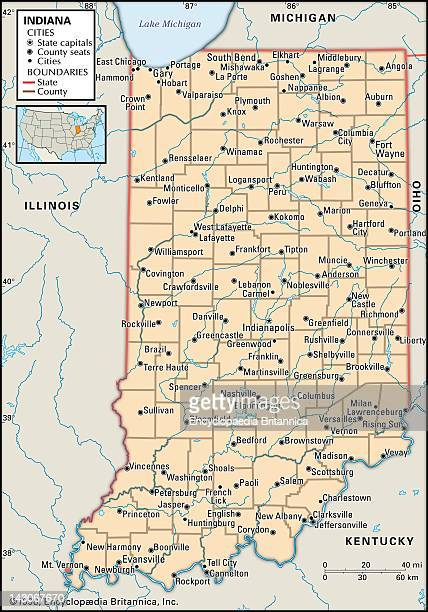 Political Map Of Indiana Political Map Of The State Of Indiana