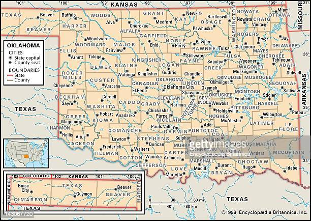 Oklahoma Map Stock Photos And Pictures