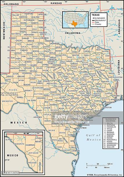Political Map Of Texas Political Map Of The State Of Texas Showing Counties