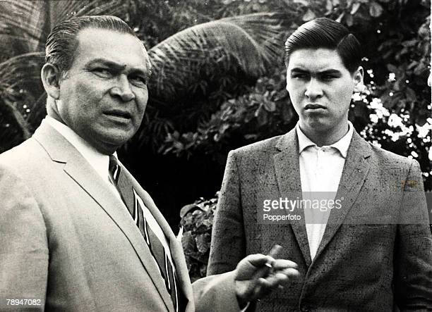 1959 Fulgencio Batista pictured with one of his sons at the time he was removed from power in Cuba to be replaced by Fidel Castro's regime Fulgencio...
