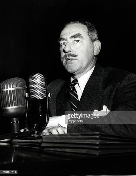 1949 Dean Acheson US Politician pictured when he was Secretary of State designate appearing before a Senate Foreign Relations committee Dean Acheson...
