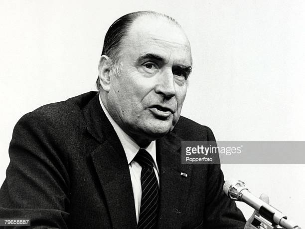27th November 1981 French President Francois Mitterand at a London EEC conference