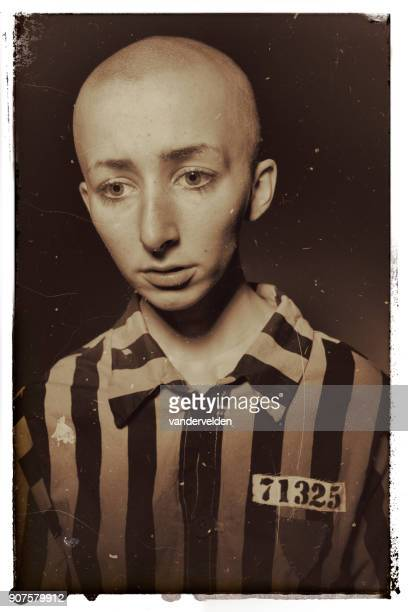 political prisoner - concentration camp stock photos and pictures