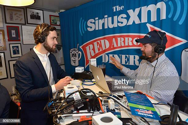 Political Reporter Alex SeitzWald is interviewed by Ari RabinHavt at SiriusXM Red Diner Broadcasts from New Hampshire Primary Coverage Live on...