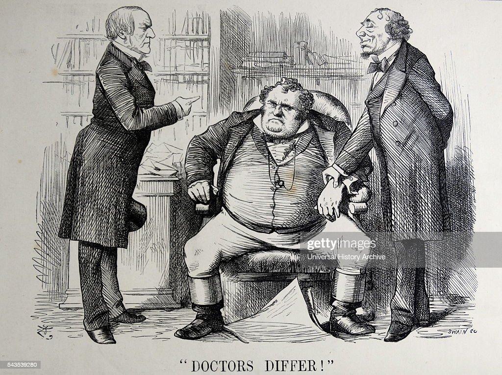 Political satire depicting William Ewart Gladstone, Benjamin ...