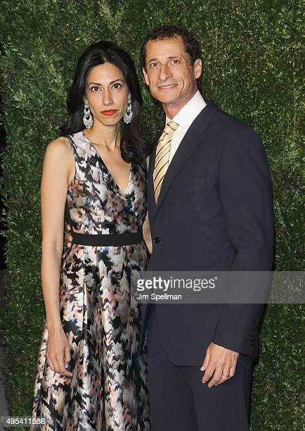 Political staffer Huma Abedin and former US Representative Anthony Weiner attend the 12th annual CFDA/Vogue Fashion Fund Awards at Spring Studios on...