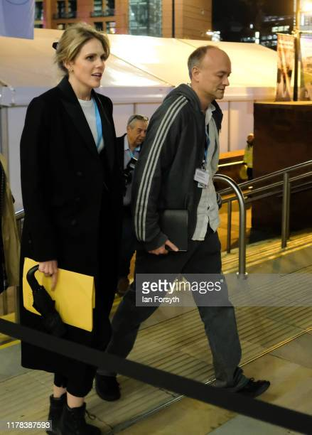 Political strategist Dominic Cummings makes his way to a social engagement on the evening of the third day of the Conservative Party Conference at...