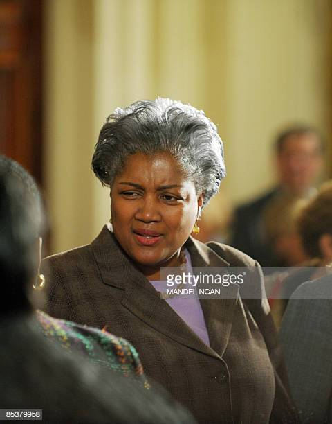 US political strategist Donna Brazile arives before US President Barack Obama speaks and signs an executive order to create the White House Council...