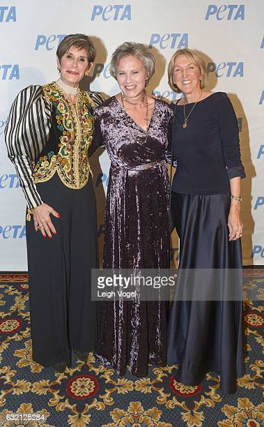 Political strategist Mary Matalin Anna Wear and PETA President Ingrid Newkirk attend PETA's Animals' Party at The Willard Hotel on January 19 2017 in...
