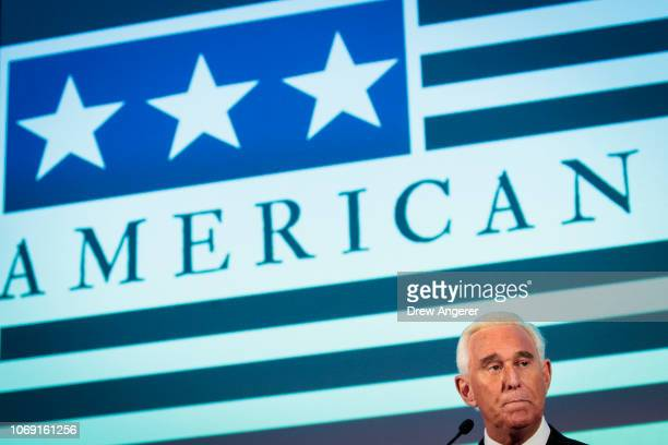 Political strategist Roger Stone speaks at the American Priority Conference December 6 2018 in Washington DC Stone recently told Congressional...