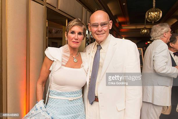 Political strategists Mary Matalin and James Carville attend the reopening of the historic Orpheum Theater on August 27 2015 in New Orleans Louisiana...
