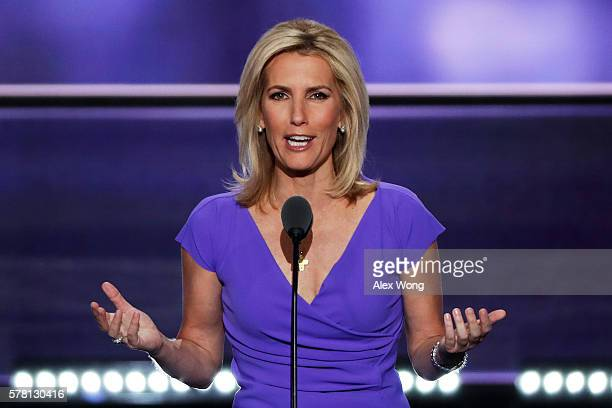 Political talk radio host Laura Ingraham delivers a speech on the third day of the Republican National Convention on July 20, 2016 at the Quicken...
