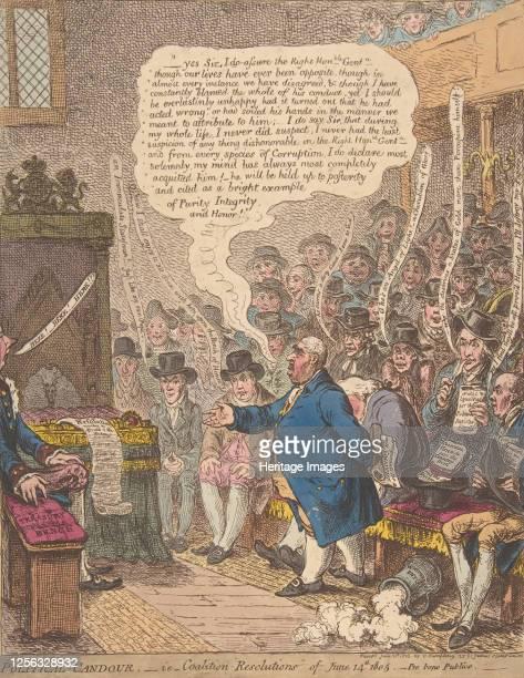 Political-Candour;- i.e.-Coalition-Resolutions of June 14th, 1805.-Pro bono Publico-, June 21, 1805. Artist James Gillray.