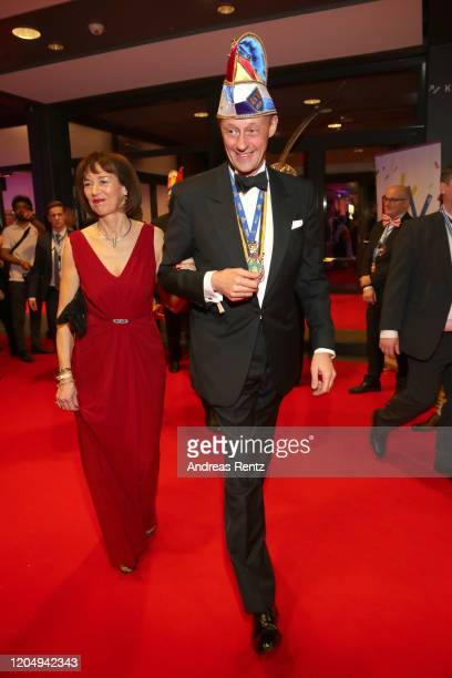 CDU politican Friedrich Merz and his wife Charlotte Merz attend the awarding of the medal Wider den tierischen Ernst during the carnival season on...