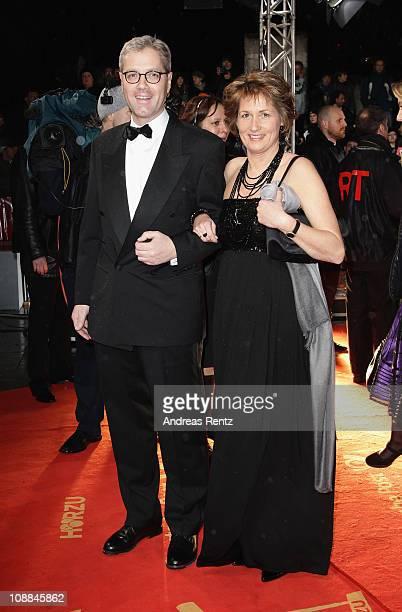 Politican Norbert Roettgen and wife Ebba HerfsRoettgen attend the 46th Golden Camera Awards at the Axel Springer Haus on February 5 2011 in Berlin...