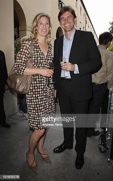 Politican Silvana KochMehrin and Wolfram Weimer Chief Editor Focus Magazin attend the DLDwomen Chairwoman Dinner at the Schumann's on June 9 2010 in...