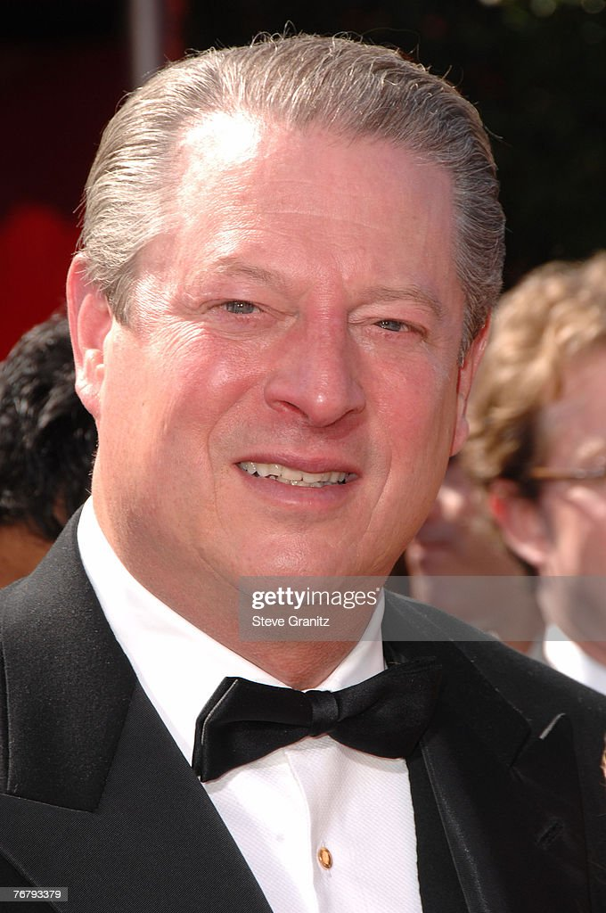 Politician Al Gore arrives at the 59th Annual Primetime Emmy Awards at the Shrine Auditorium on September 16, 2007 in Los Angeles, California.