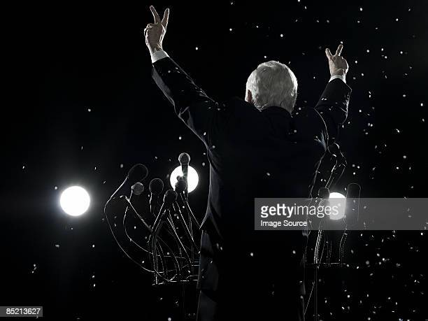 Politician and confetti