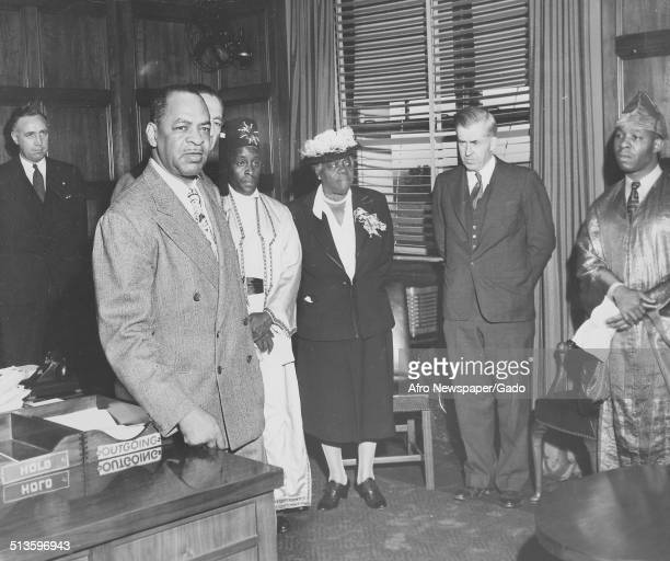 Politician and lawyer William L Dawson Henry Wallace and educator and Civil Rights activist Mary McLeod Bethune 1951