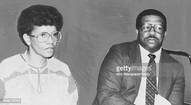 Politician and Maryland congressional representative Elijah Cummings and AfricanAmerican woman April 20 1971