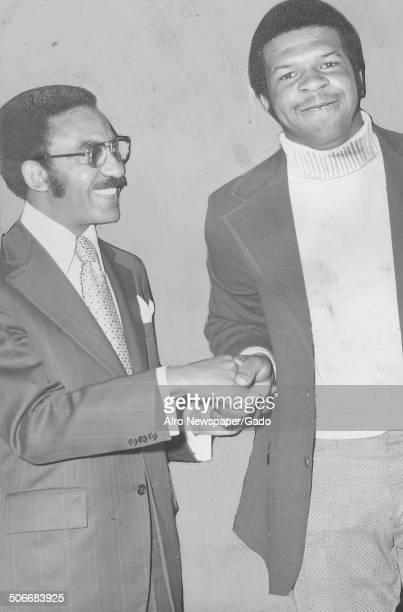 Politician and Maryland congressional representative Elijah Cummings receiving an award, May 12, 1973.