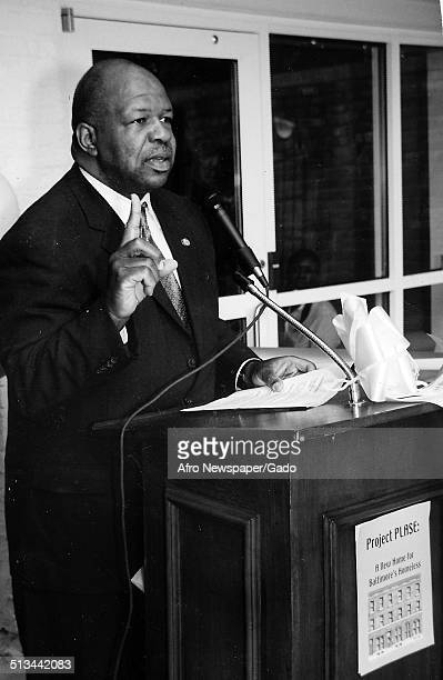 Politician and Maryland congressional representative Elijah Cummings February 24 1996