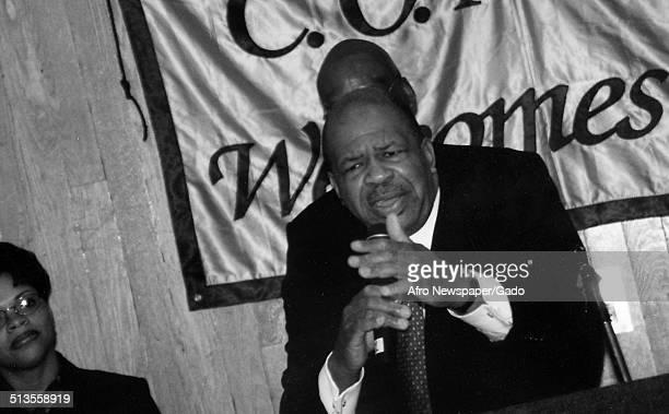 Politician and Maryland congressional representative Elijah Cummings February 19 2000
