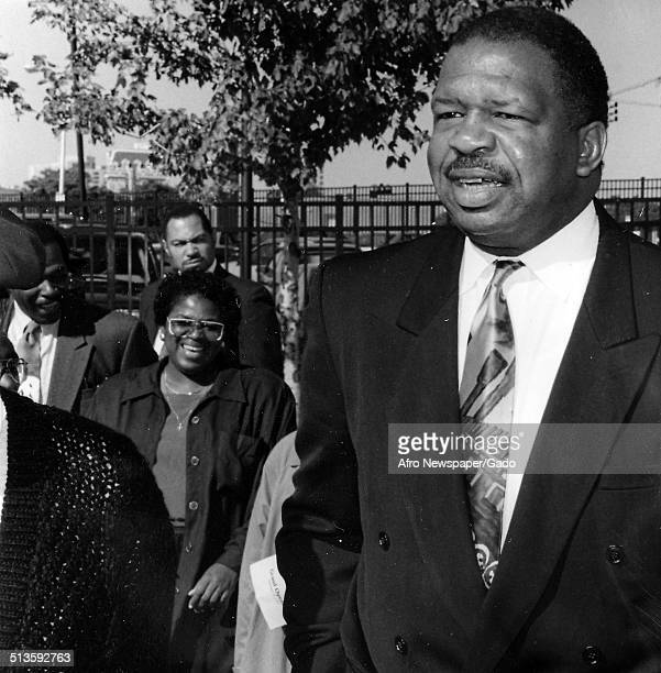 Politician and Maryland congressional representative Elijah Cummings voting Maryland March 26 1994