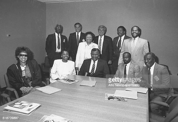 Politician and Maryland congressional representative Elijah Cummings and politicians 1993
