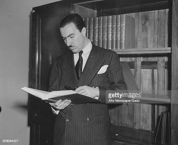 Politician and pastor Adam Clayton Powell Jr 1943
