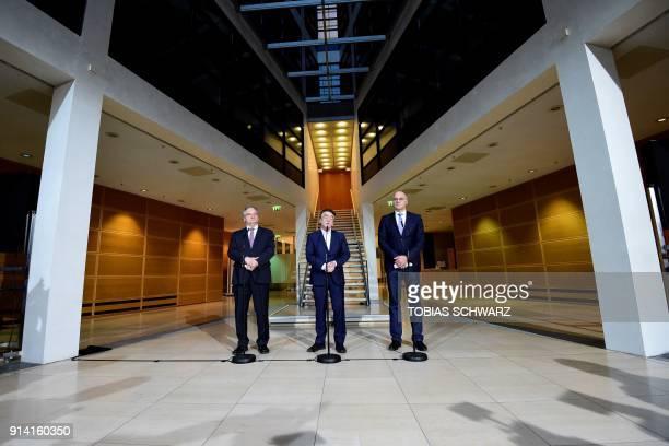CDU politician and SaxonyAnhalt Premier Reiner Haseloff Social Democratic Party executive Michael Groschek and Mayor of Augsburg and CDU politician...