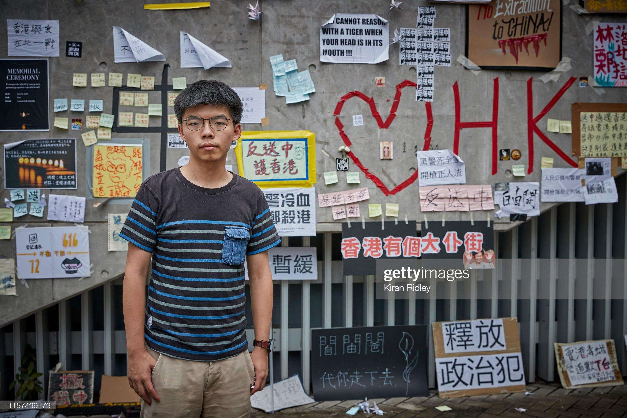 Hong Kong Portraits - Student Leader Joshua Wong : News Photo