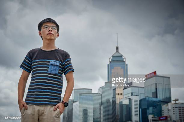 Politician and student activist Joshua Wong photographed near the Hong Kong Government Building's on June 19, 2019 in Hong Kong, Hong Kong. Joshua, a...