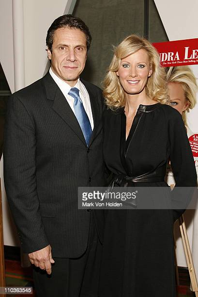 Politician Andrew Cuomo and Chef and TV personality Sandra Lee at the launch party for book 'Made From Scratch A Memoir' by Sandra Lee on November 5...