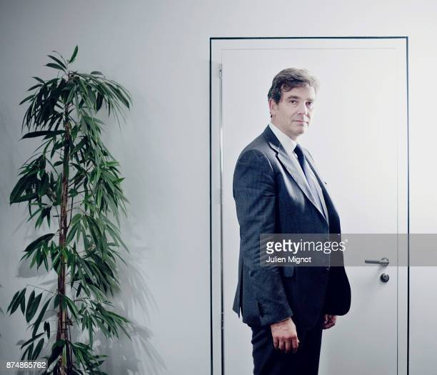 Politician Arnaud Montebourg is photographed for Le Monde on September 2013 in Paris France