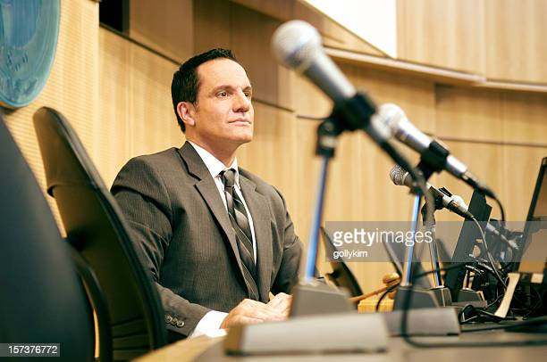 politician at auditorium - mayor stock pictures, royalty-free photos & images