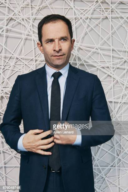 Politician Benoit Hamon is photographed for Self Assignment on February 28 2017 in Paris France