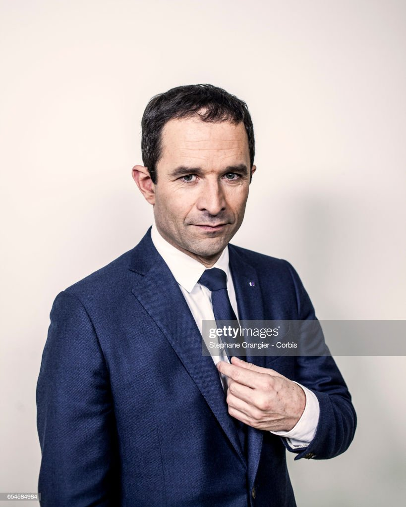 French Presidential Candidate Benoit Hamon : Photo Session In Paris
