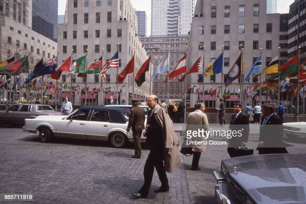 Politician Bettino Craxi at the Headquarters of the United Nations, New York 1991.